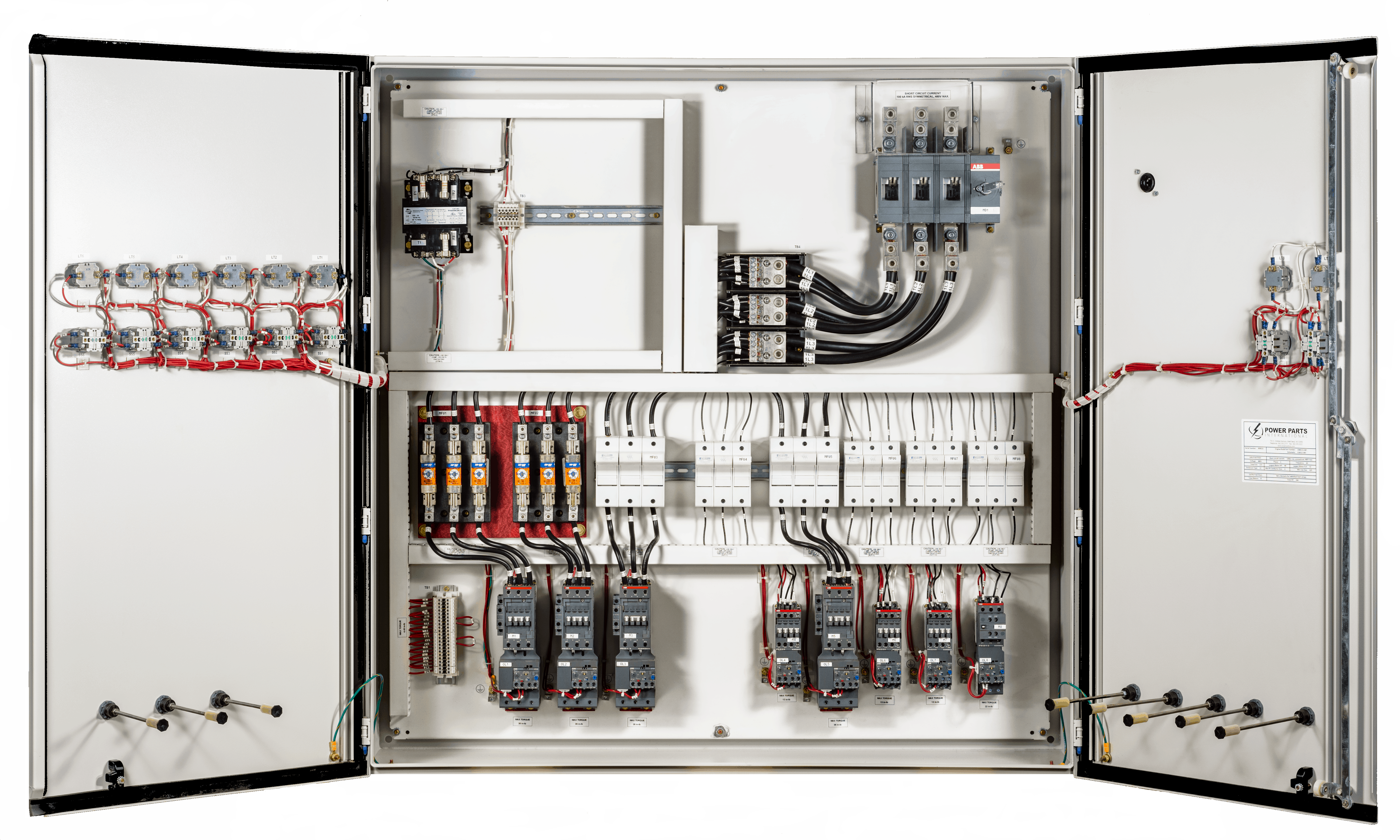 electrical control panel components pdf